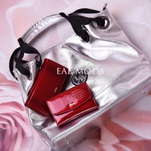 červená peněženka menší a větší