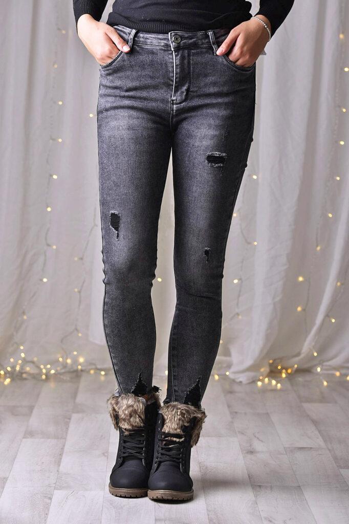 Jeans greyblack