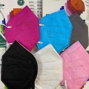 barevný respirátor ffp2 10 ks v balení