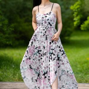luxusní šaty květinky